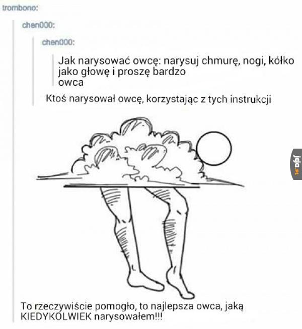 Jak narysować owcę