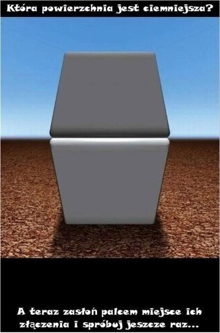 Która powierzchnia jest ciemniejsza?
