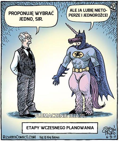 Batman miał problemy z doborem stroju