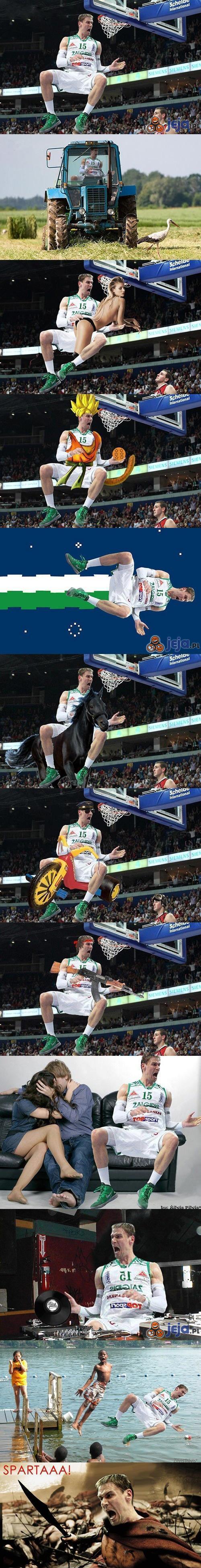 Koszykarz i jego przygody w photoshopie