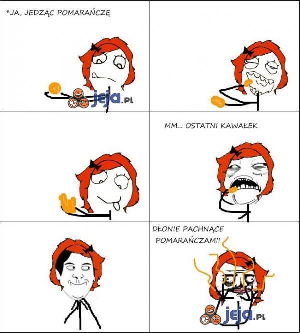 Jedząc pomarańczę