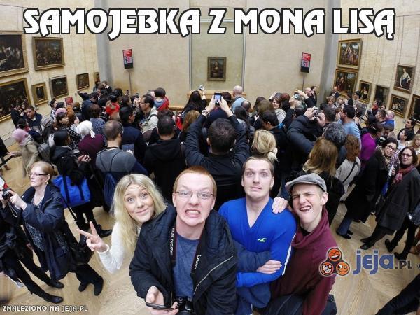 Samojebka z Mona Lisą