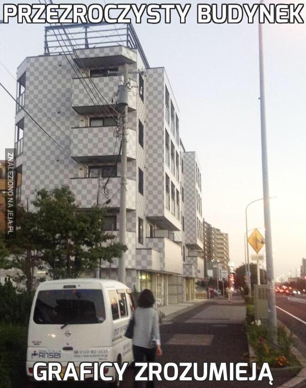 Przezroczysty budynek