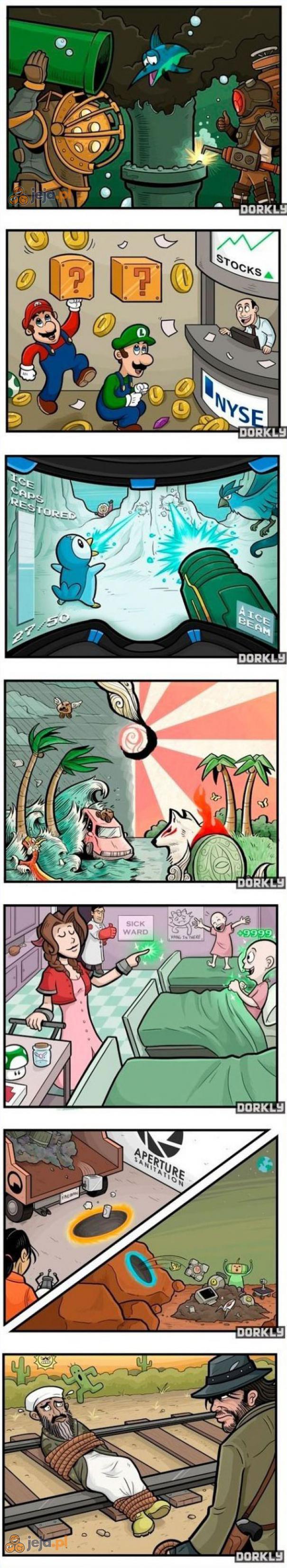 Bohaterowie gier vs Problemy świata