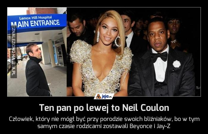 Ten pan po lewej to Neil Coulon