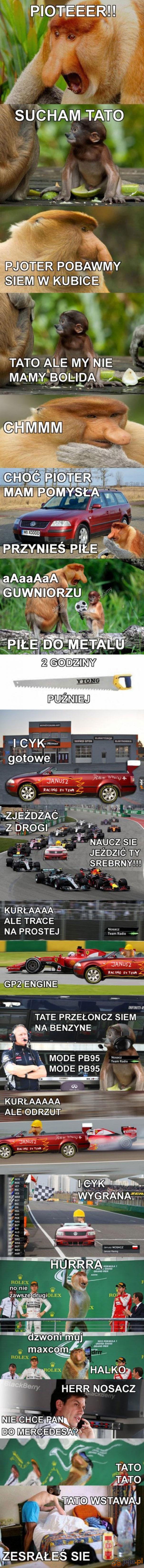 Janusz robi karierę w sportach motorowych