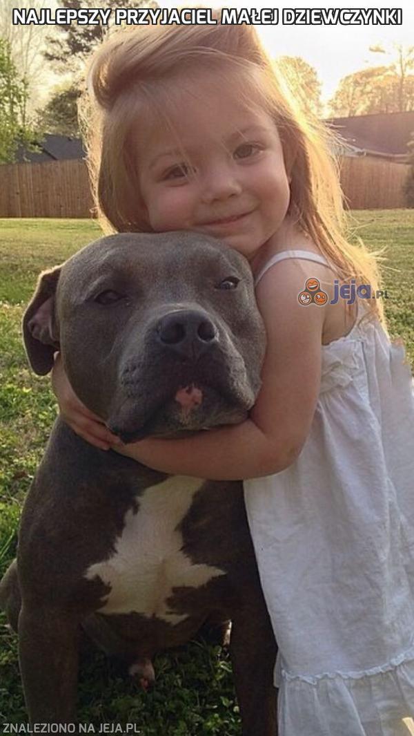 Najlepszy przyjaciel małej dziewczynki