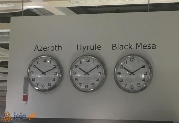 Wszędzie ta sama godzina?