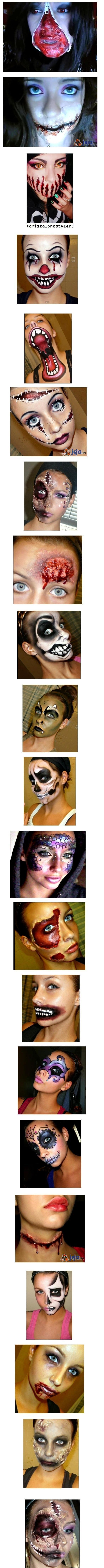 Makabryczny make-up