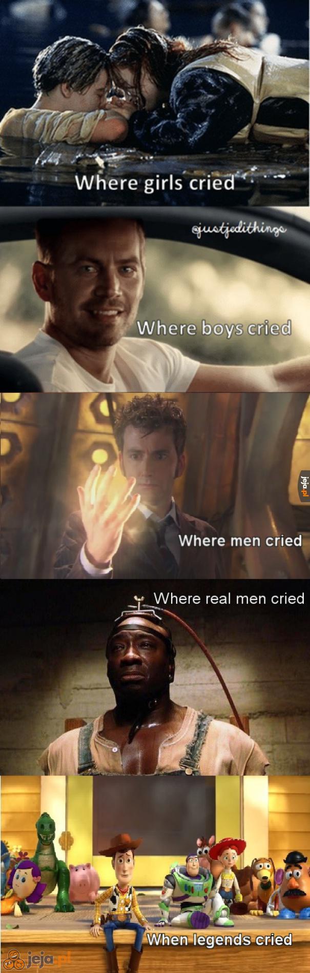 A Ty na czym płakałeś?