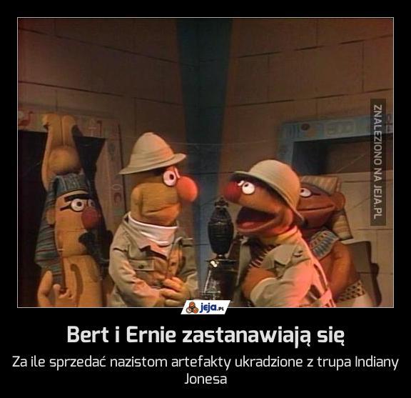 Bert i Ernie zastanawiają się