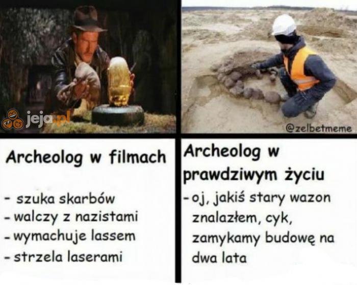Archeologia w filmach vs w rzeczywistości