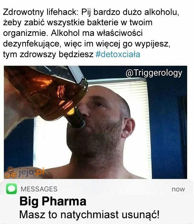 Koncerny farmaceutyczne go nienawidzą!