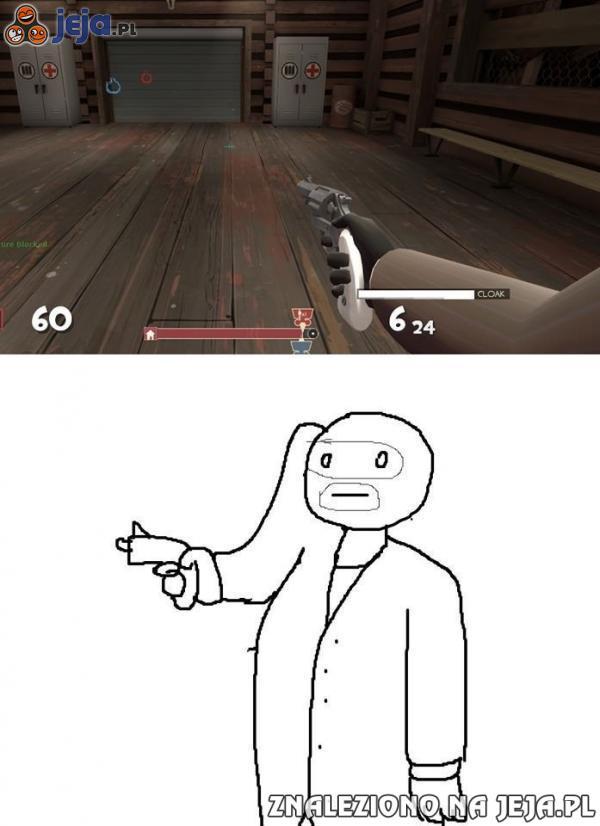 Widok z pierwszej osoby w niektórych grach...