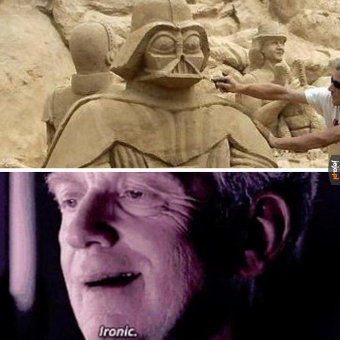 Przecież on zdecydowanie nie lubił piasku