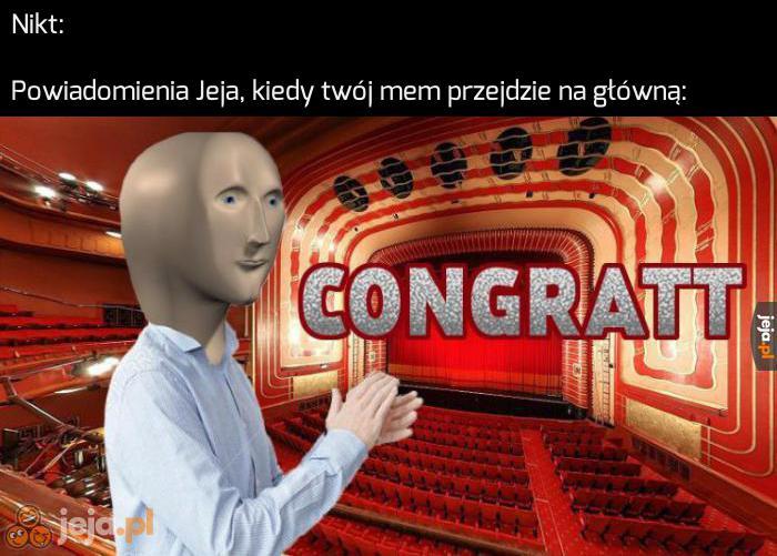 Gratulacje, użytkowniku
