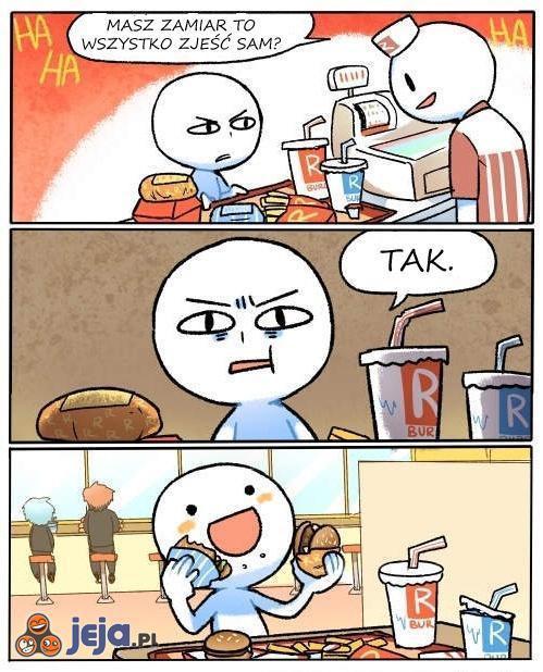 Wyzwanie w fast-foodzie
