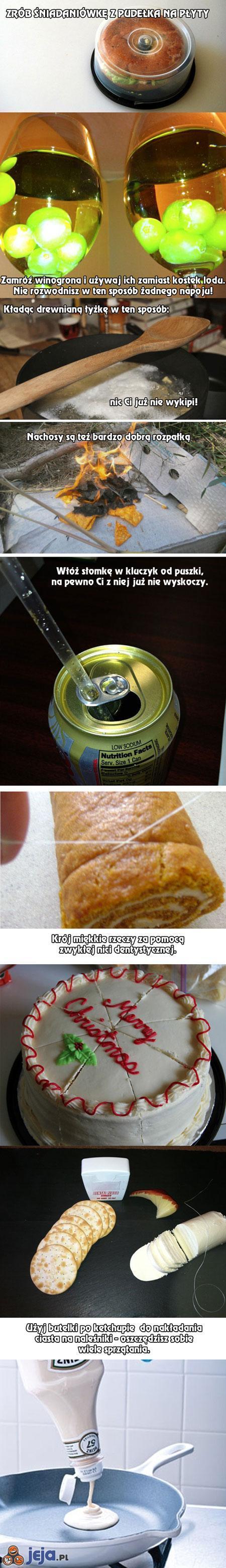 Kilka przydatnych trików z jedzeniem