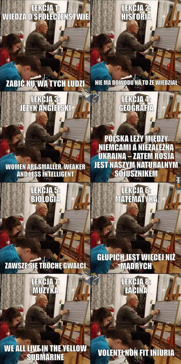 Domowe nauczanie z Januszem