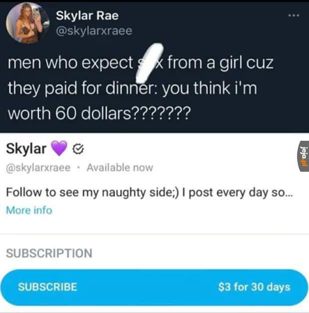 Dziewczyna się ceni