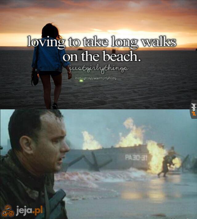 Spacery po plaży