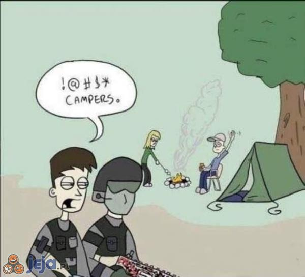 Kamperzy zmorą żołnierzy