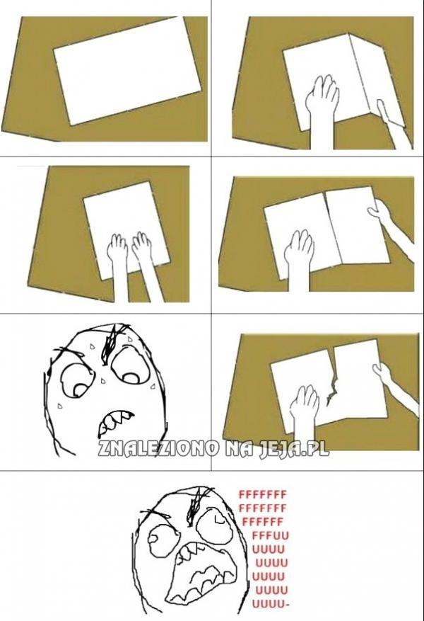 Szybki sposób na dzielenie kartki