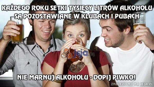 Alkohol w klubach i pubach