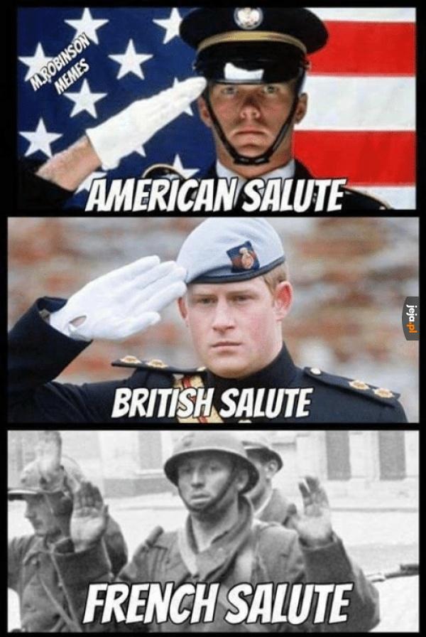 Salutowanie w różnych krajach