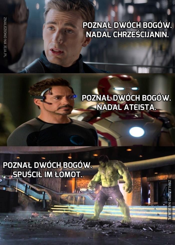 Hulk jest tolerancyjny i wszystkich traktuje jednakowo