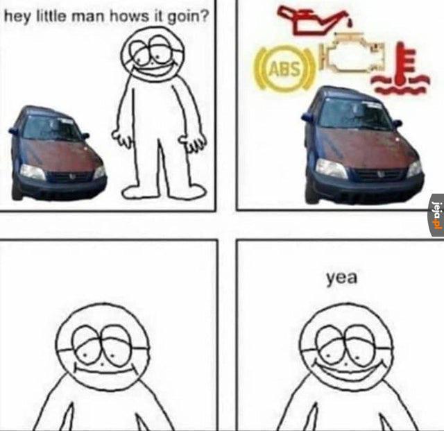 *odgłosy zepsutego samochodu*