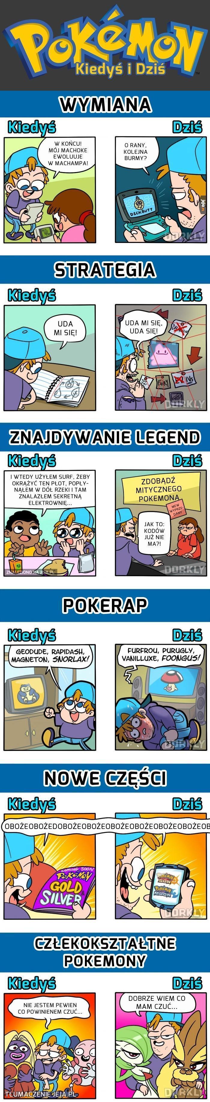 Pokemony: kiedyś i dziś