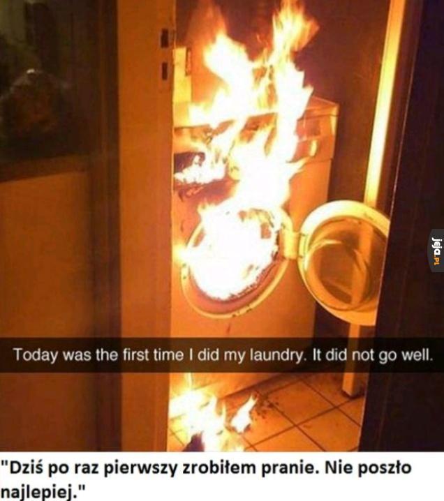 Pierwsze pranie