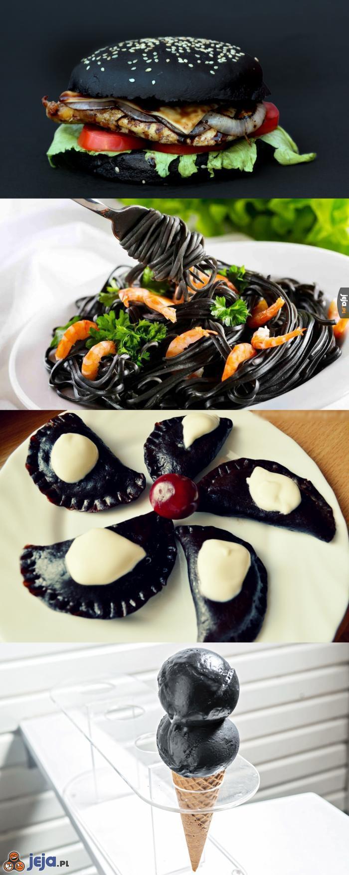 Czarne jedzenie