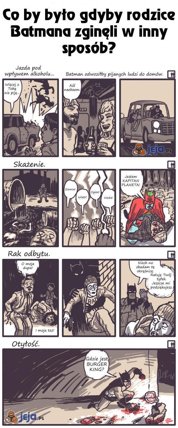 Co by było gdyby rodzice Batmana zginęli w inny sposób