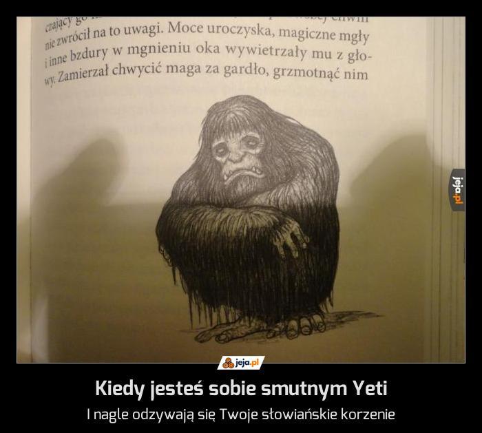 Kiedy jesteś sobie smutnym Yeti