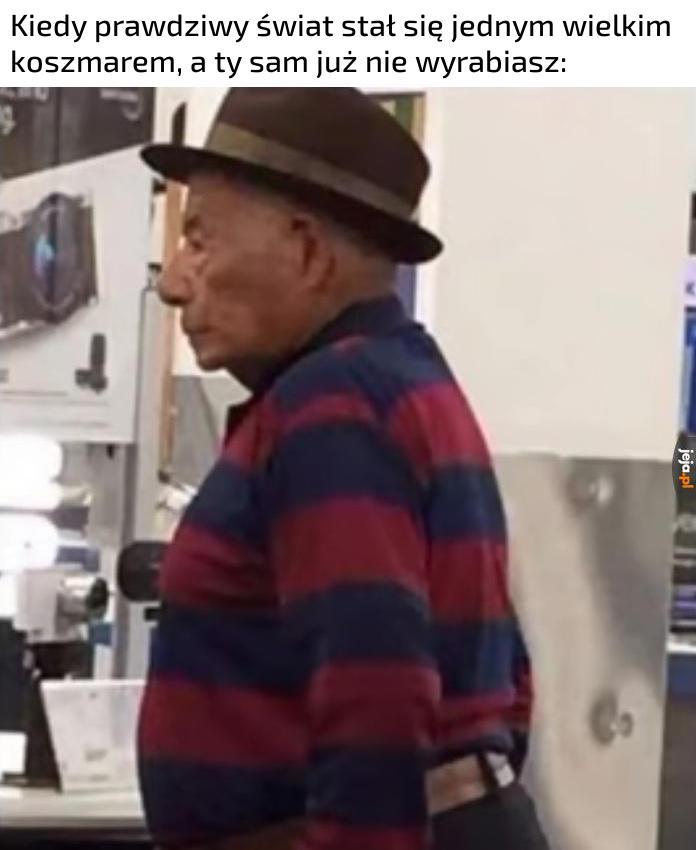 Freddy Krueger na emeryturze nie ma lekko, wiecznie w pracy