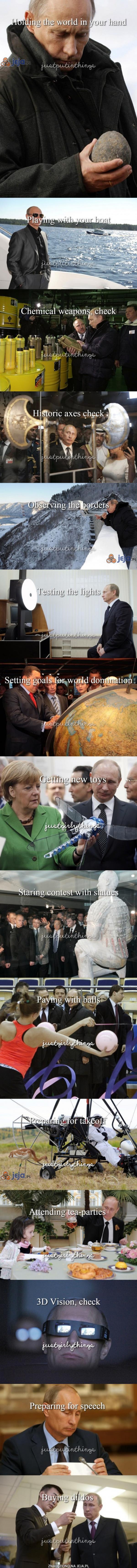 Takie tam, z życia Putina