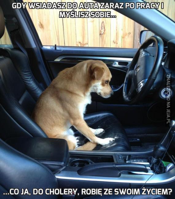 Gdy wsiadasz do auta zaraz po pracy i myślisz sobie...
