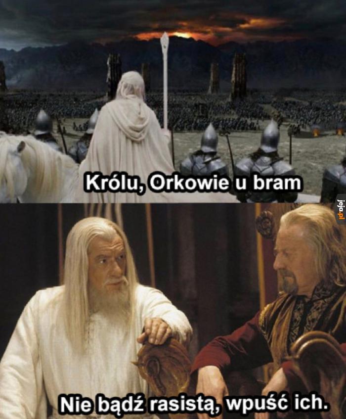 Dlaczego wszyscy są biali we Władcy Pierścieni?