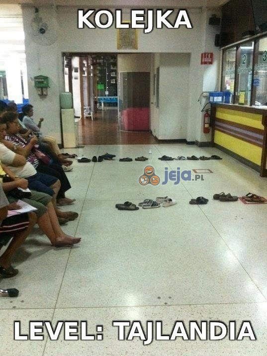Tak się ustawiają kolejki w Tajlandii