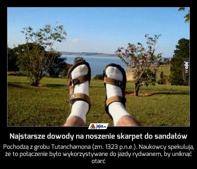 Najstarsze dowody na noszenie skarpet do sandałów