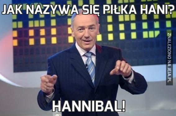 Jak nazywa się piłka Hani?