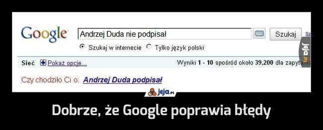 Dobrze, że Google poprawia błędy