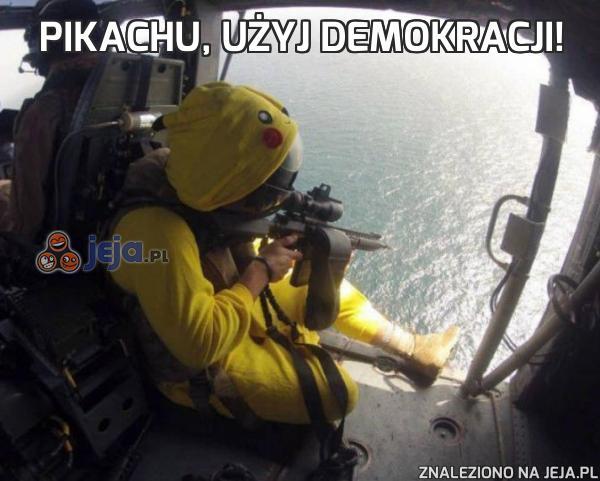Pikachu, użyj demokracji!