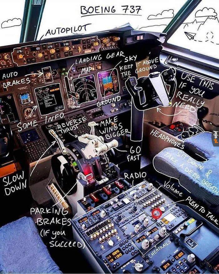 Na wypadek, jakby ktoś potrzebował pilotować boeinga