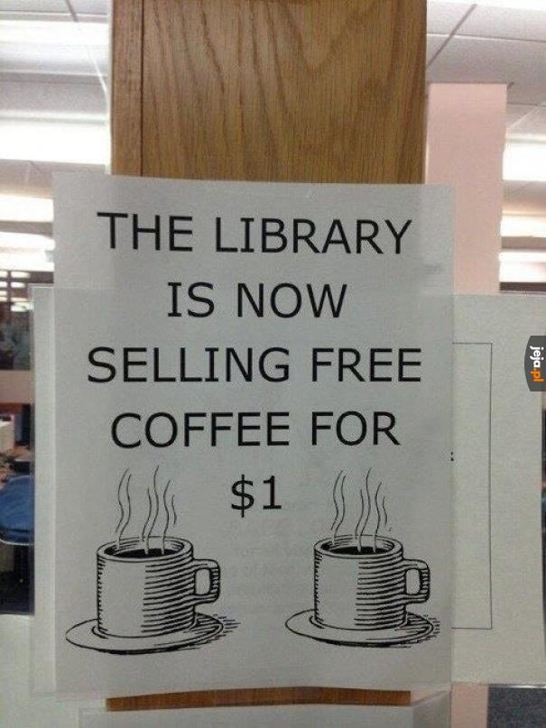 Darmowa kawa chyba tak nie działa