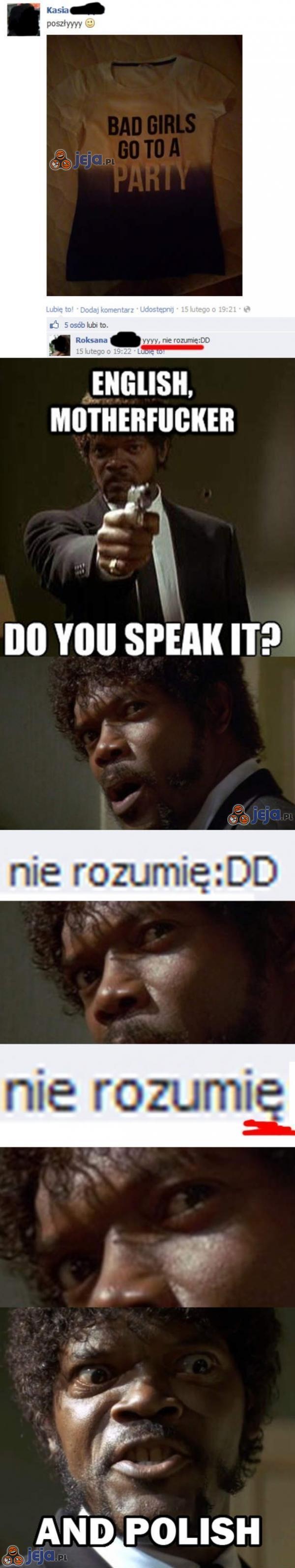 Do you speak it?