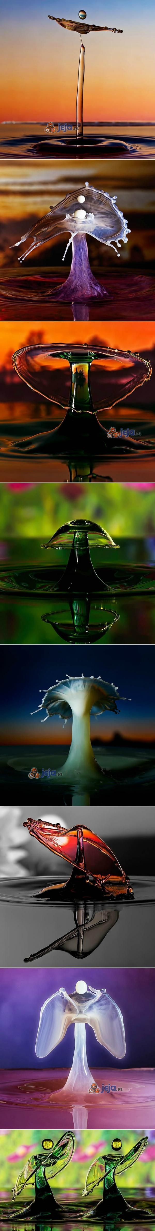Pięknie uchwycone krople wody