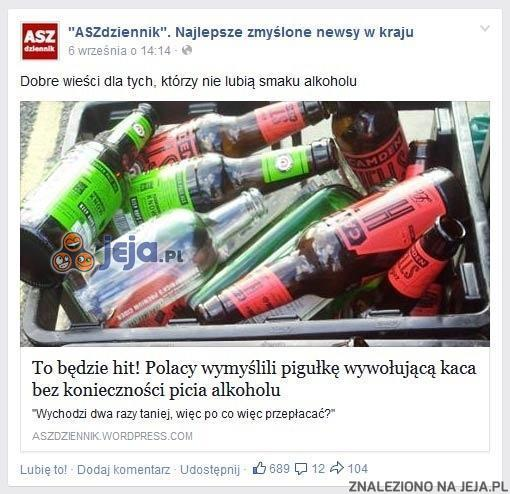 Dobre wieści dla tych, którzy nie lubią smaku alkoholu